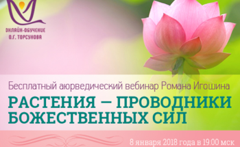 Бесплатный вебинар «Растения — проводники божественных сил»