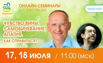 Онлайн-семинар Олега Торсунова «Чувство вины, самобичевание, апатия. Как справиться?»