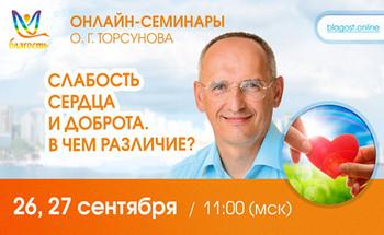 Онлайн-семинар Олега Торсунова «Слабость сердца и доброта. В чем различие?»