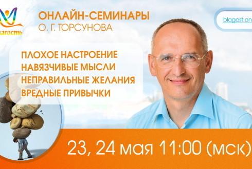 Онлайн-семинар Олега Торсунова «Плохое настроение, навязчивые мысли, неправильные желания, вредные привычки»