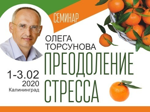 Семинар Олега Торсунова «Преодоление стресса»